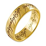 Lord of the Rings 14ct Yellow Gold The one Ring - Size Vby Lord of the Rings