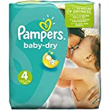 Pampers Baby Dry Nappies, Monthly Saving - Size 4 (Maxi), Pack of 174