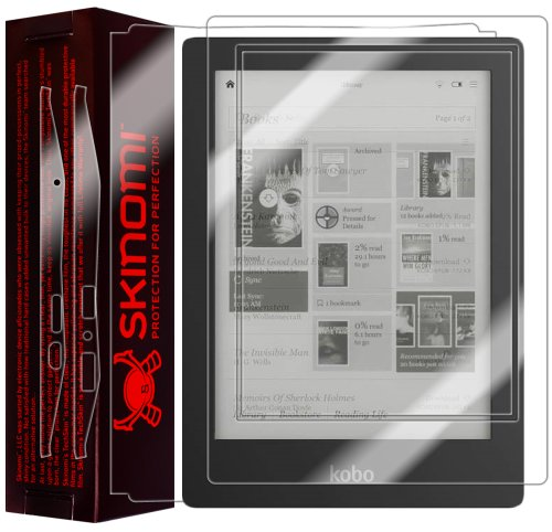 Skinomi® TechSkin - Kobo Aura HD e-Reader Screen Protector + Full Body Skin Protector with Lifetime Replacement Warranty / Front & Back Premium HD Clear Film / Ultra High Definition Invisible and Anti-Bubble Crystal Shield - Retail Packaging from Electro
