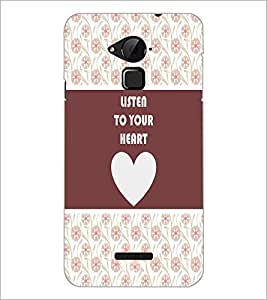 PrintDhaba Quote D-3775 Back Case Cover for COOLPAD NOTE 3 LITE (Multi-Coloured)