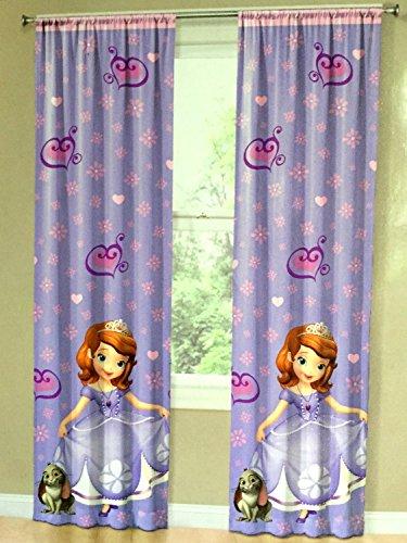 Disney 小さなプリンセス ソフィア カーテン 子ども部屋用 [並行輸入品]