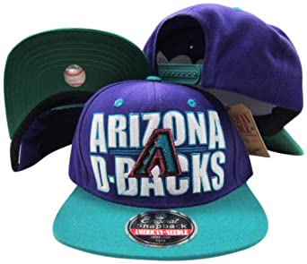 Arizona Diamondbacks Block Two Tone Plastic Snapback Adjustable Plastic Snap Back Hat... by American Needle
