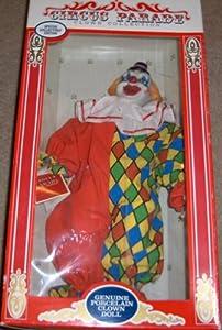Genuine Porcelain Clown Doll: Circus Parade Clown Collection
