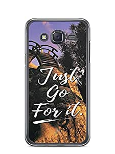 YuBingo Just Go For It Designer Mobile Case Back Cover for Samsung Galaxy J5