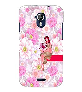 PrintDhaba Sweet Girl D-2962 Back Case Cover for MICROMAX A116 CANVAS HD (Multi-Coloured)