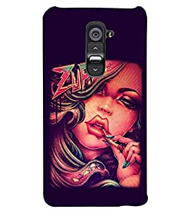 PRINTSWAG GIRL Designer Back Cover Case for LG G2