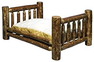 Montana Woodworks Glacier Country Collection Large Pet Bed with 30 by 40-Inch Mattress