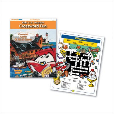 Kids' U.S. Vacation Crossword Fun