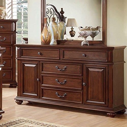 Landaluce Transitional Style Antique Dark Oak Finish Bedroom Dresser front-990274
