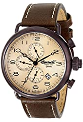 Ingersoll Men's INQ009KHBR Balfour Stainless Steel Watch with Brown Leather Band