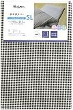メリーナイト 敷布団カバー 「ギンガム」 SLサイズ 105×215cm ブラウン PC13101-93