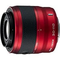 Nikon 1 30-110mm f/3.8-5.6 VR Nikkor Lens (Bright Red) from Nikon
