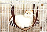 PoodeHouse Soft Suede Material with Pothook Cat kitten Perch/Hammock/Cushion/Crib/Bed,17.7*13.4,Coffee
