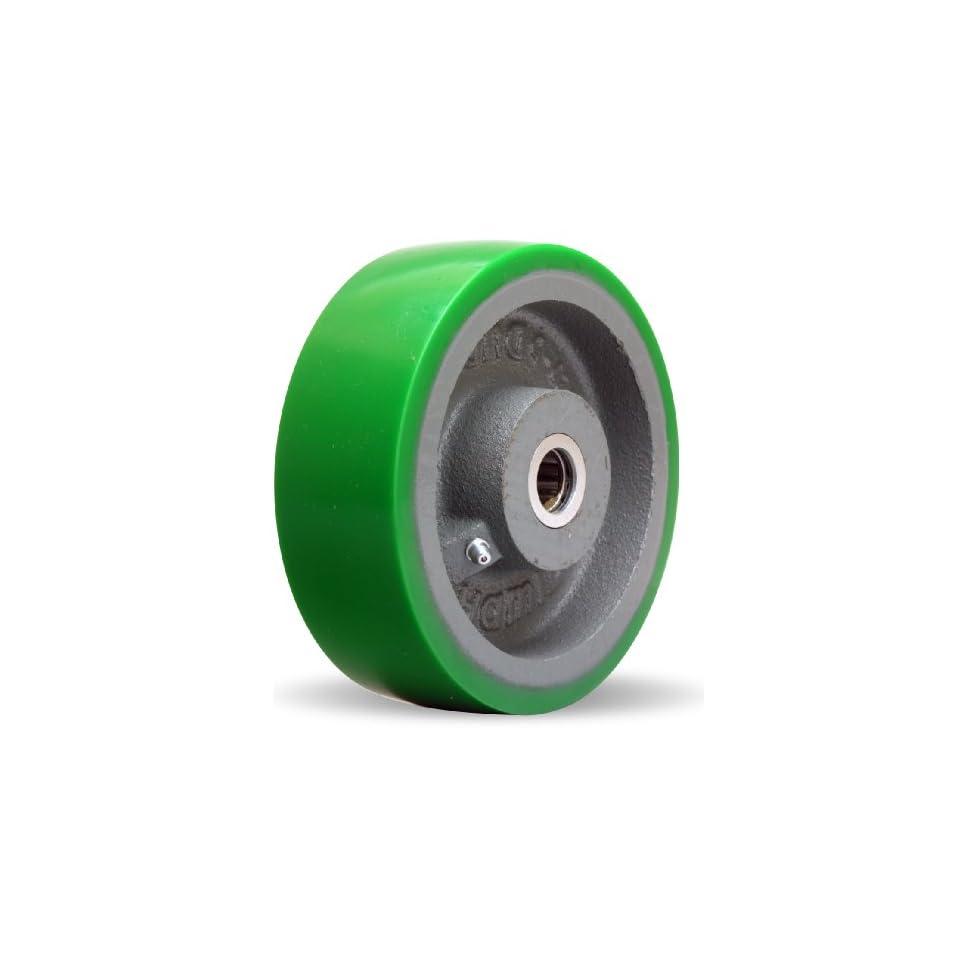 Hamilton W 620 D 3/4 Duralast Polyurethane (95A) on Cast Iron Wheel with Straight Roller Bearing, 6 Diameter x 2 Width, 1,200 lb. Capacity