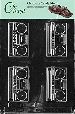 Cybrtrayd K034 Radio Chocolate Candy Mold with Exclusive Cybrtrayd Copyrighted Chocolate Molding Instructions