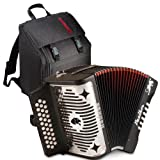 Hohner Panther FBE (FbBbE) Accordion - 3100 Bundle w/GigBag,strap and booklet