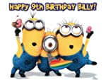 A4 Rectangle PERSONALISED MINIONS Hap...