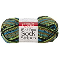Premier Yarn 3-Pack Wool Free Sock Yarn, Rain Forest