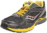 Saucony Men's Powergrid Triumph 9 Running Shoe,Black/Yellow-UK Size 10/US Size 10