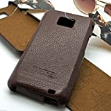 ICARER Genuine Italian premium leather designer flip case cover for SAMSUNG GALAXY S2 i9100 - BROWN