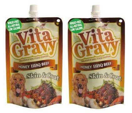 Vita Gravy Honey Bbq Beef Flavor Dog Food Topping, Honey Bbq Beef Flavor (2 Pack)
