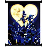 """Kingdom Hearts Game Fabric Wall Scroll Poster (32""""x42"""") Inches"""