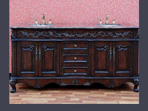 Design Element DEC211 Madison 72-Inch Double Sink Vanity Set