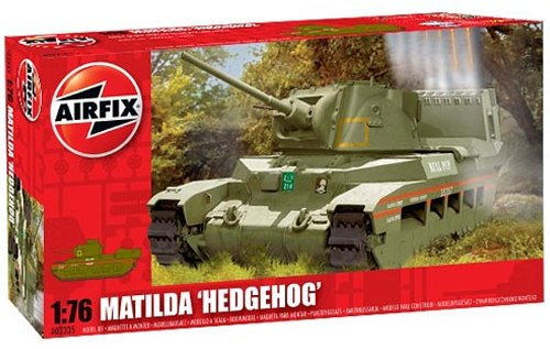 Airfix A02335 1:76 Scale Matilda Hedgehog Military Vehicles Classic Kit Series 2