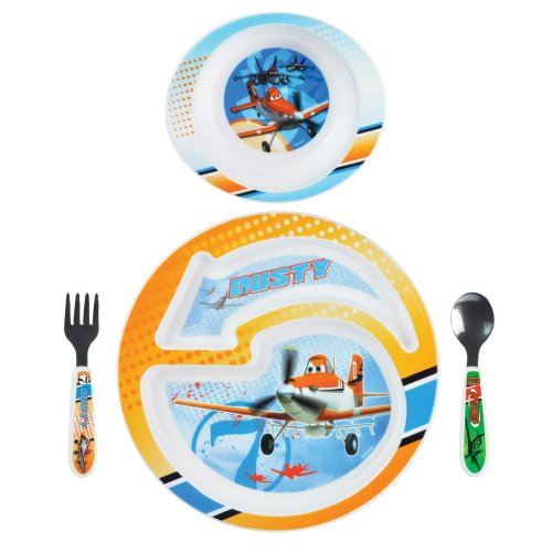 The First Years Disney Feeding Set, Planes, 4 Piece (Discontinued by Manufacturer)