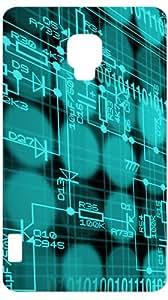 Techno Circuit Board White Back Cover Case for LG Optimus L7 II P710
