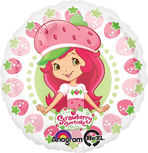 "Anagram International Strawberry Shortcake Berry Pattern Foil Balloon Pack, 18"", Multicolor"