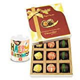 Chocholik Luxury Chocolates - Sweet Admire Of Yummy Chocolates With Birthday Mug