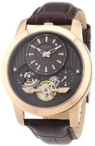 Fossil Herren-Armbanduhr XL Analog Quarz Leder ME1114