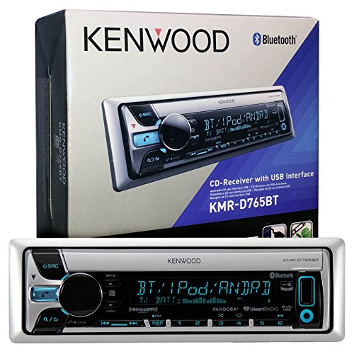 Kenwood Kmr D765bt Mp3 Usb Aux Marine Boat Yacht Stereo Receiver Cd Player Bundle Combo W