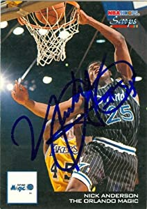 Nick Anderson Autographed Hand Signed Basketball card (Orlando Magic) 1994 Hoops... by Hall of Fame Memorabilia