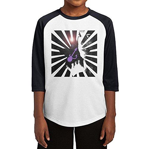 GUYT Youth Boys Prince Raglan 3/4 Sleeve T-Shirt Black Size S