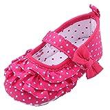EOZY Zapatos Para Beb� Puntos Tela Primero Paso Andar Oto�o Pirmavera Fucsina Longitud 12cm