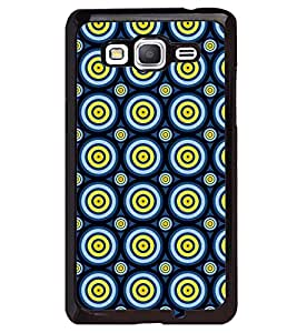 Printvisa Blue Yellow Polka Dot Illusion Pattern Back Case Cover for Samsung Galaxy Core Prime G360