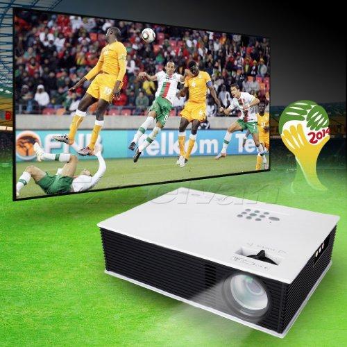 Floureon® Hd Led Projector Cinema Theater Pc&Laptop Av/Vga/Hdmi/Usb/Tv Input Us Plug