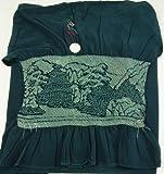 男着物 正絹 兵児帯 重厚な端絞り 鉄色(深緑系) カジュアル 浴衣 締め易い カジュアル定番