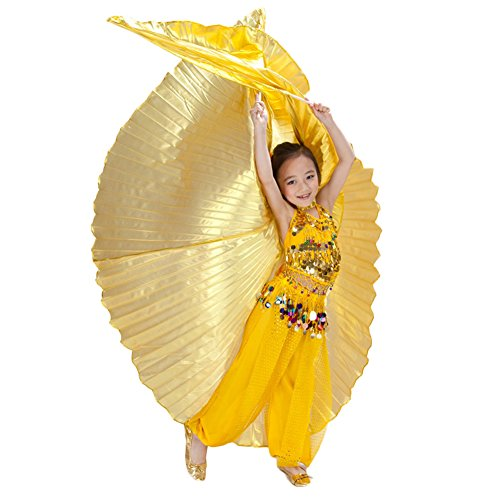 AveryDance Children's Belly Dance Gold Silver Isis Wing Costume Accessaries