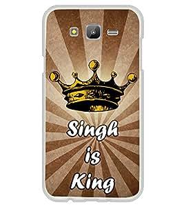 Singh is King 2D Hard Polycarbonate Designer Back Case Cover for Samsung Galaxy J7 J700F (2015 OLD MODEL) :: Samsung Galaxy J7 Duos :: Samsung Galaxy J7 J700M J700H