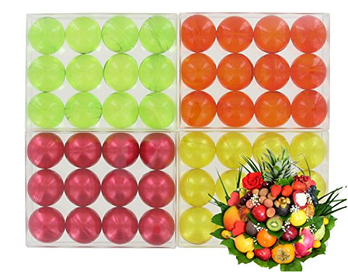 lot-de-4-boites-de-12-perles-dhuile-de-bain-fruits