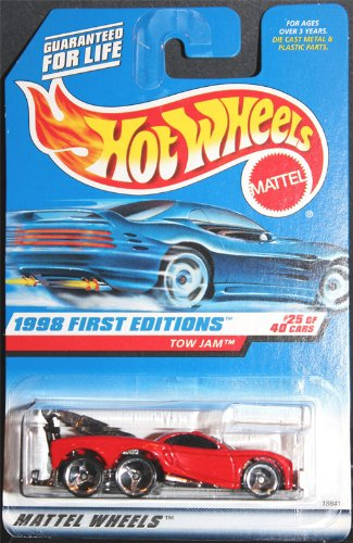 Hot Wheels - 1998 First Editions - Tow Jam - Red - #25 of 40 - Collector #658 - Limited Edition - Collectible