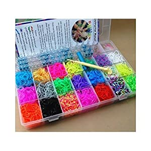 7000 Loom Bands Kit & Clips Collection With 170 Clips + 1 Premium Hook + Normal Hooks + 1 Loom Board + Charms With 20 Beautiful Band Colours & Great Storage Case