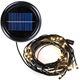 Yescom 40 LED Solar String Light for 9 ft 8 rib Outdoor Patio Offset Aluminum Umbrella (Warm White)