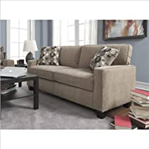 Hot Sale Serta CR-43534PB Santa Cruz Collection 73inch Sofa, Platinum Fabric