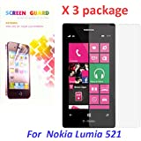 CyberTech 3X (QTY:3) Ultra Crystal Clear LCD Screen Protector Film Cover 4 Nokia Lumia 521 - tmobile