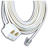 GE Phone Line Cord with Dual Jack (TL26572)