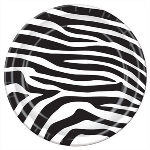 Zebra Stripes Animal Print Small Paper Plates (12ct)